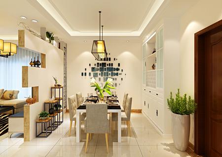 北海装修公司【海天瑶】2室2厅2卫/91㎡ 装修风格:现代简约 设计师 :陆世福